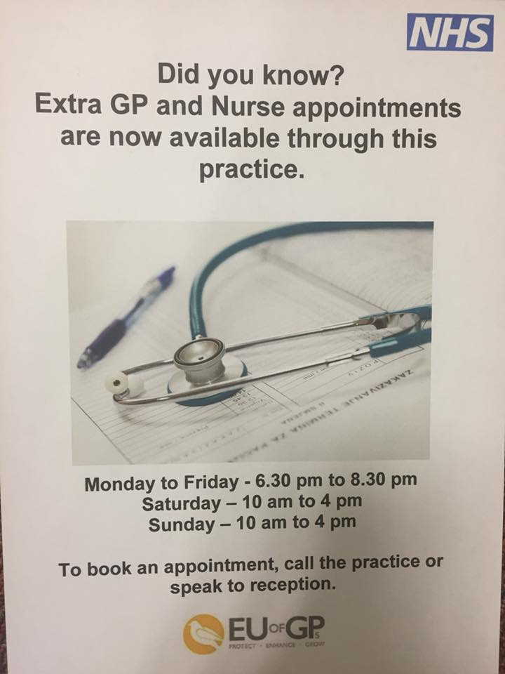 More GP Appointments for East Lancashire Residents